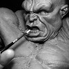 Video Tutorial 4 : Process Documentary ,Sculpting HULK Tools and Materials used: Sculpey Firm, Wire End Loop Tool, Metal Ball...